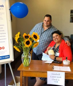 Solano county Goodwill Week welcoming table