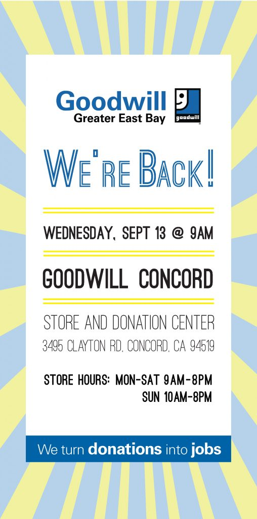 Goodwill Concord Store, Clayton Rd Reopening